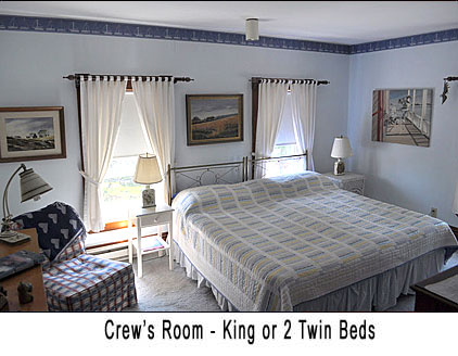 Our Crew's Room features one King sized bed or two Twin Beds